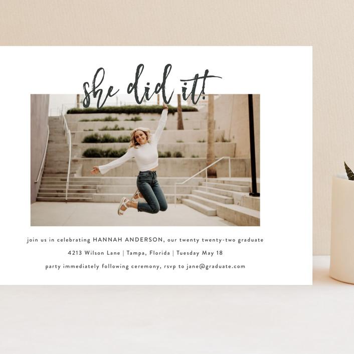 """""""Let's Celebrate!"""" - Grand Graduation Cards in Slate by Kasia Labocki."""