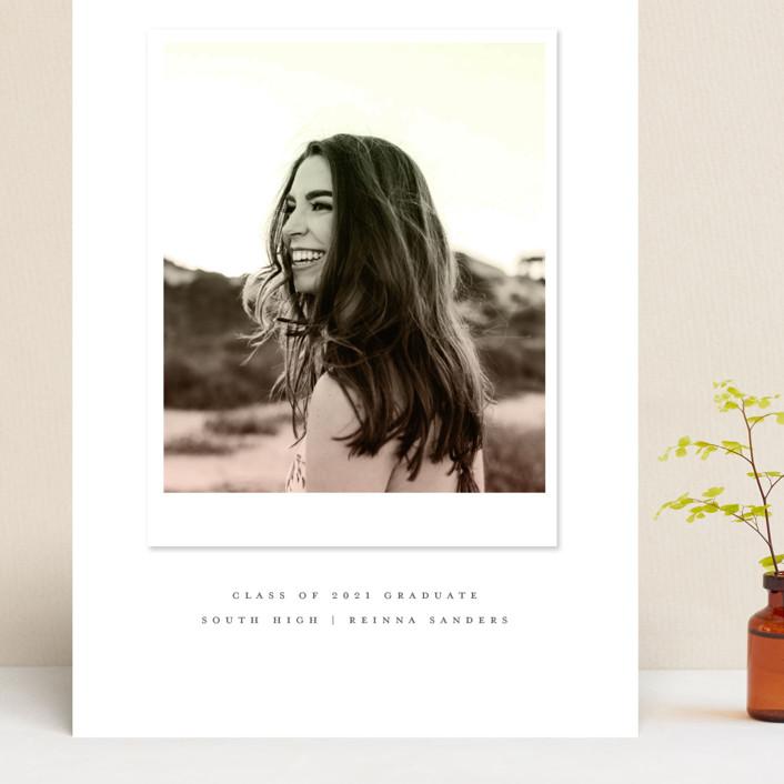 """Vintage Snapshot"" - Grand Graduation Cards in Sage by Grace Kreinbrink."