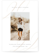 This is a white graduation announcement invitation by Lauren Chism called Softest with standard printing on smooth signature in grand.
