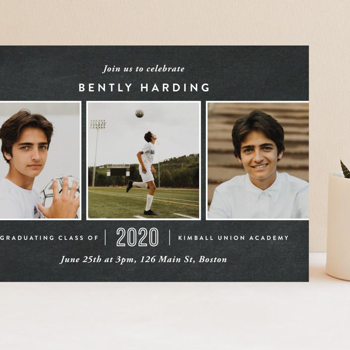 """Academy"" - Grand Graduation Cards in Chalkboard by Oscar and Emma - Karly Depew."