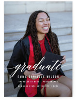 This is a white graduation announcement invitation by Simona Camp called Simple Style with standard printing on smooth signature in grand.