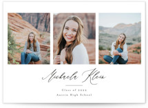 This is a black and white graduation announcement invitation by Annie Shapiro called Elegant Name with standard printing on smooth signature in grand.