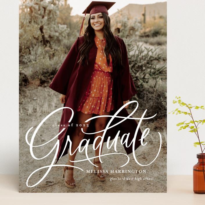 """Script Grad"" - Grand Graduation Cards in Cloud by Erin German."