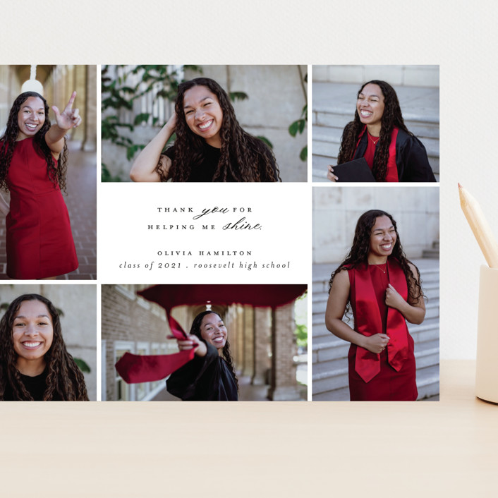 """Shine Bright"" - Grand Graduation Cards in Blackboard by Hudson Meet Rose."
