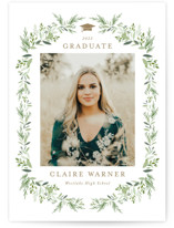 This is a brown graduation announcement invitation by Jennifer Postorino called Laurel Essence with standard printing on smooth signature in grand.