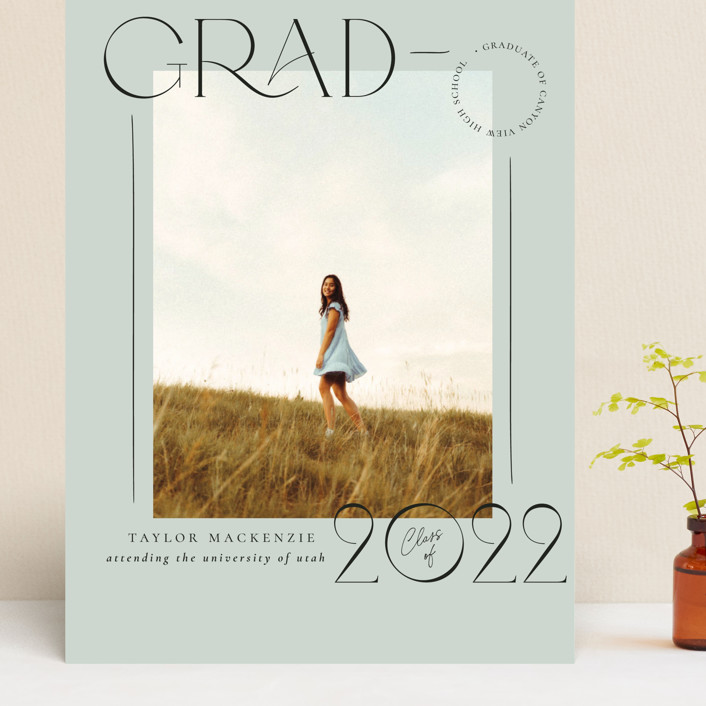 """Mod Grad"" - Grand Graduation Cards in Mint by Wildfield Paper Co."