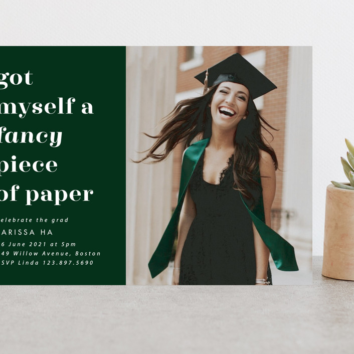 """""""Fancy"""" - Grand Graduation Cards in Fir by Catherine Culvenor."""