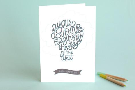 inspirational balloon graduation greeting cards  minted, Greeting card