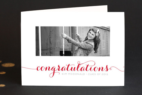 Calligraphic Congrats Graduation Greeting Cards