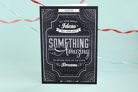 chalkboard dreams graduation greeting cards by pac minted