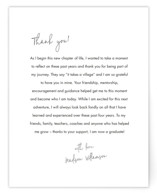This is a black new by Minted called Little Note with standard printing on signature in standard.