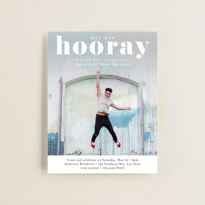 """Hooray"" - Graduation Insert Cards in Cloud by Kasia Labocki."