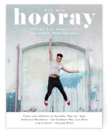 This is a white new by Kasia Labocki called Hooray with standard printing on signature in standard.