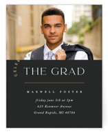 This is a black graduation insert card by Pixel and Hank called Class Of with standard printing on signature in standard.