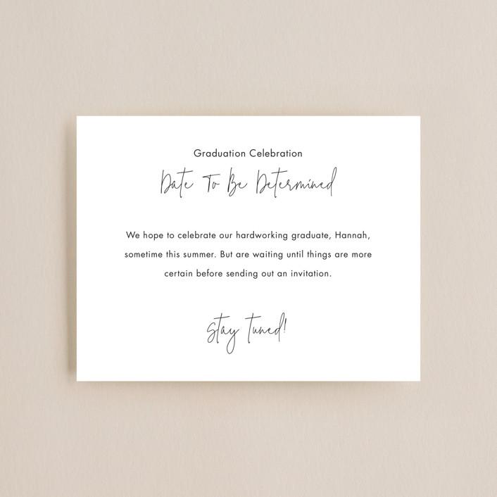 """Celebration TBD"" - Graduation Insert Cards in Noir by Minted."