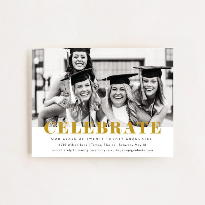 """Celebrate!"" - Graduation Insert Cards in Sunrise by Kasia Labocki."
