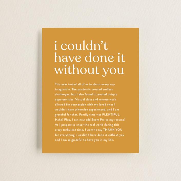 """""""longest ever"""" - Funny, Modern Graduation Insert Cards in Mustard by JoAnn Jinks."""
