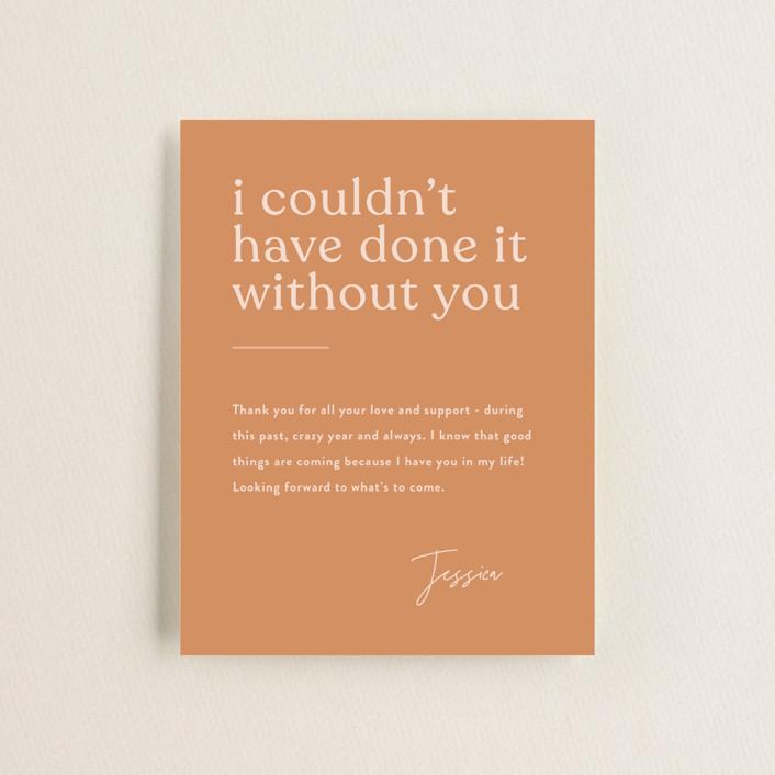 """Layered"" - Funny, Modern Graduation Insert Cards in Peach by JoAnn Jinks."