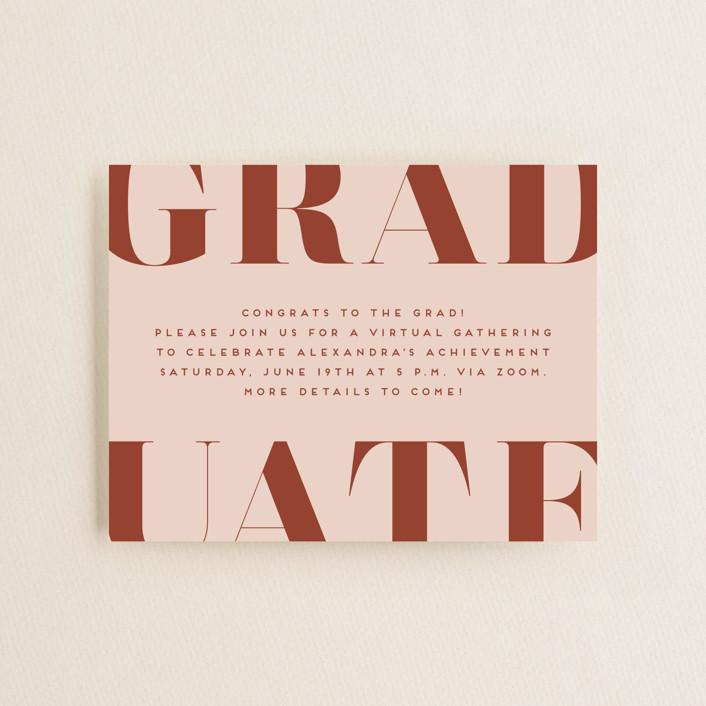 """Snapshot"" - Preppy Graduation Insert Cards in Sienna by Erica Krystek."