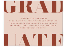 This is a orange graduation insert card by Erica Krystek called Snapshot with standard printing on signature in standard.
