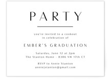 This is a white graduation insert card by Olivia Raufman called Ember with standard printing on signature in standard.