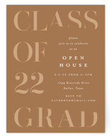 This is a brown graduation insert card by Lauren Chism called Tilt with standard printing on signature in standard.