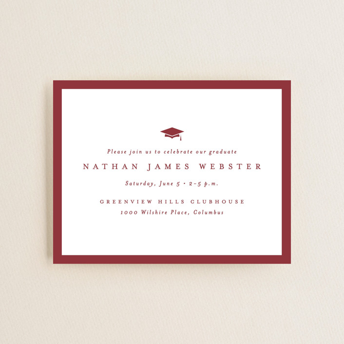 """""""Wrapped"""" - Graduation Insert Cards in Brick by Lea Delaveris."""