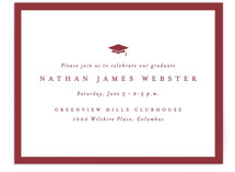 This is a red graduation insert card by Lea Delaveris called Wrapped with standard printing on signature in standard.
