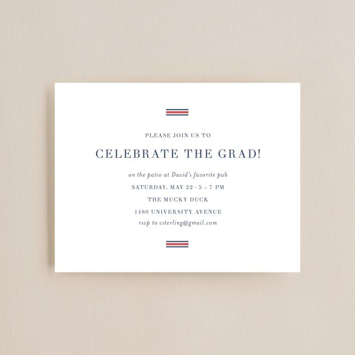 """Scholarly Spirit"" - Graduation Insert Cards in Crimson by Toast & Laurel."