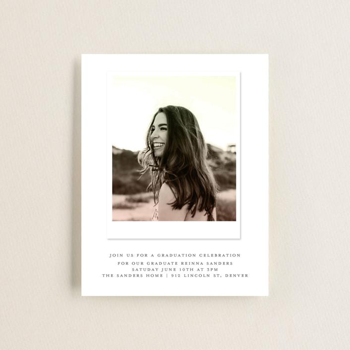 """Vintage Snapshot"" - Graduation Insert Cards in Sage by Grace Kreinbrink."