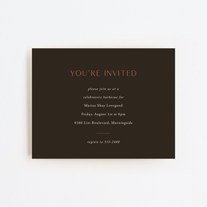"""""""Destination"""" - Funny, Modern Graduation Insert Cards in Faded Rust by Up Up Creative."""