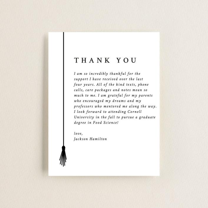 """Tassel Line"" - Graduation Insert Cards in Onyx by Amy Payne."