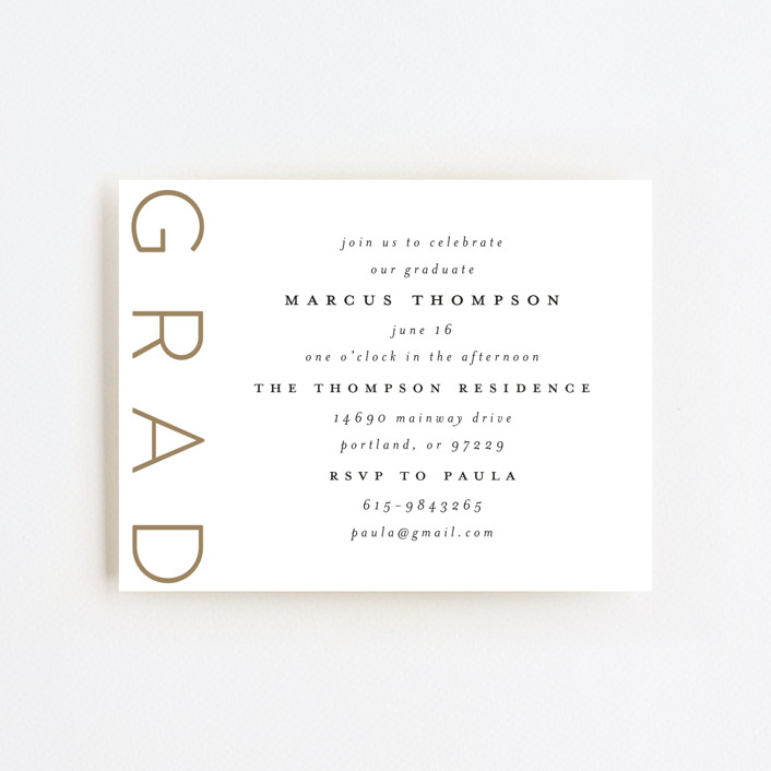 """""""Large Grad"""" - Graduation Insert Cards in Cotton by Ashlee Townsend."""