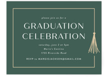 This is a white graduation insert card by Lauren Chism called Fringe with standard printing on pearlescent in standard.