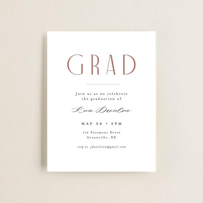 """Imagine"" - Graduation Insert Cards in Cotton by Jennifer Wick."