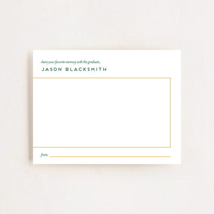 """Ultimate"" - Preppy Graduation Insert Cards in Mustard by Genna Blackburn."