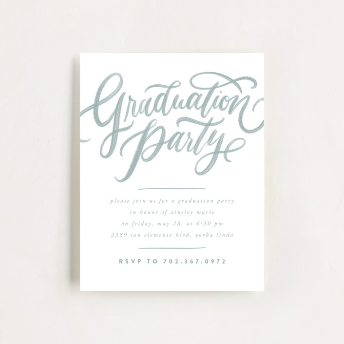 """Gilded Future"" - Modern Graduation Insert Cards in Ash by Wildfield Paper Co."