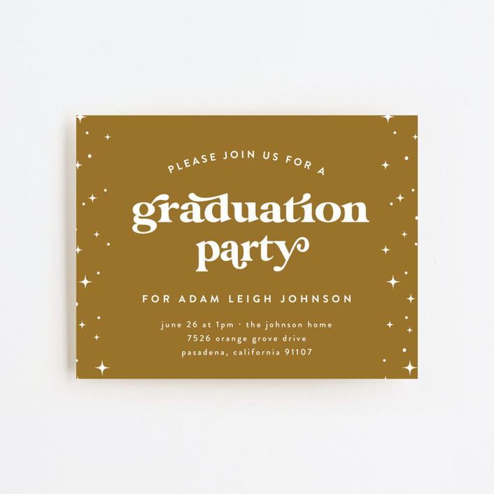 """Spread Joy"" - Modern Graduation Insert Cards in Cotton by Leah Ragain."