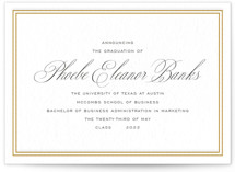 This is a black letterpress graduation announcement by Toast & Laurel called Scholarly Charm with letterpress printing on bright white letterpress paper in standard.