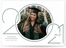 This is a white letterpress graduation announcement by Beth Schneider called Intersect with letterpress printing on bright white letterpress paper in standard.