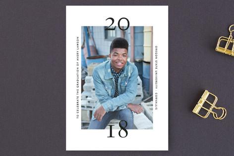 Bold Date Graduation Petite Cards