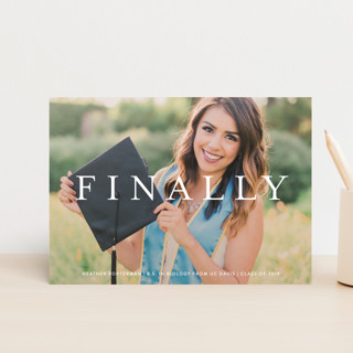Its Finally Time Graduation Petite Cards