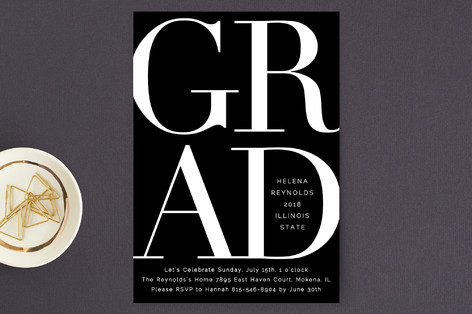 Bold Classic Grad Graduation Petite Cards