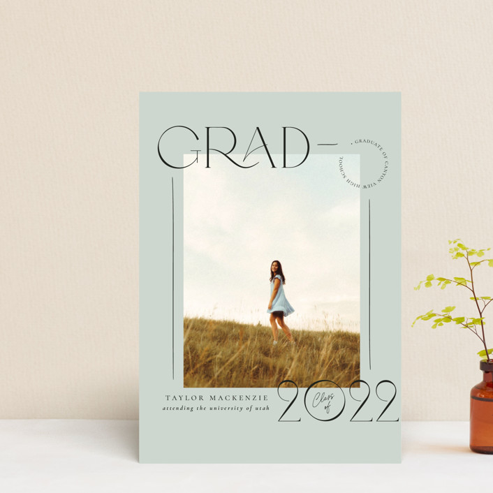 """""""Mod Grad"""" - Graduation Petite Cards in Mint by Wildfield Paper Co."""