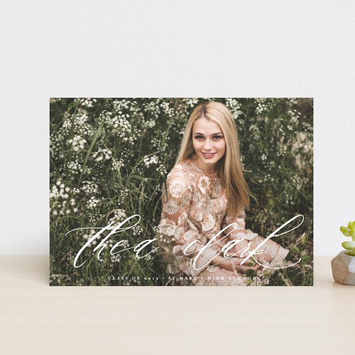 """Brighten"" - Graduation Petite Cards in Cloud by Lori Wemple."