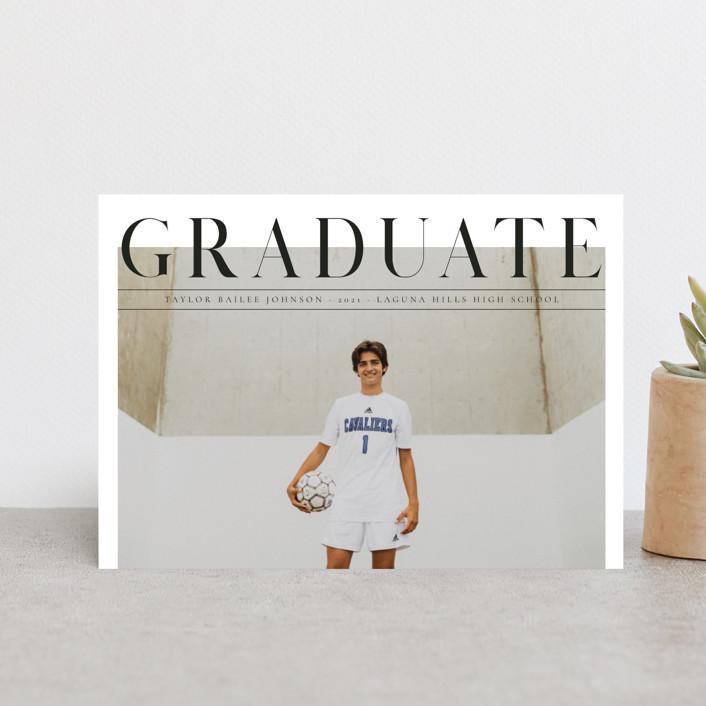 """Bold headline"" - Graduation Petite Cards in Cloud by Kann Orasie."