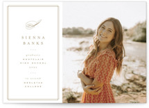 This is a brown graduation announcement invitation by Kristie Kern called Ivy with standard printing on signature in petite.