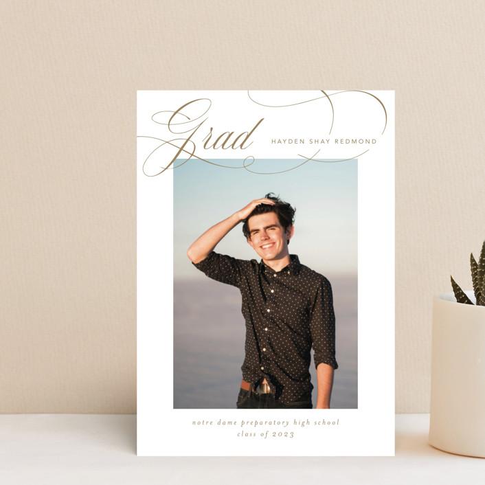"""Flourishing"" - Graduation Petite Cards in Gilded Gold by Jennifer Postorino."