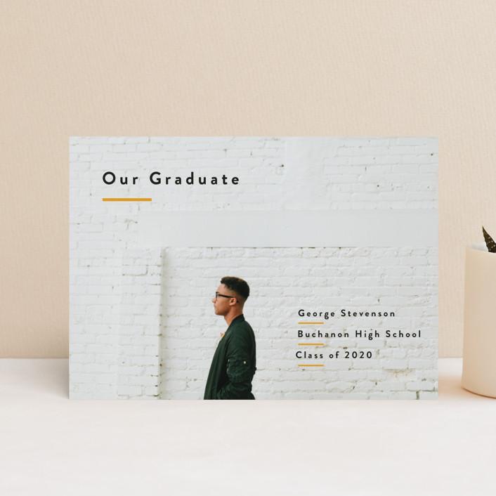 """Simple Pride"" - Graduation Petite Cards in Mustard by Inkblot Design."