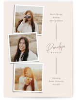 This is a beige graduation announcement invitation by Ekko Studio called Snapshot Collage with standard printing on signature in petite.